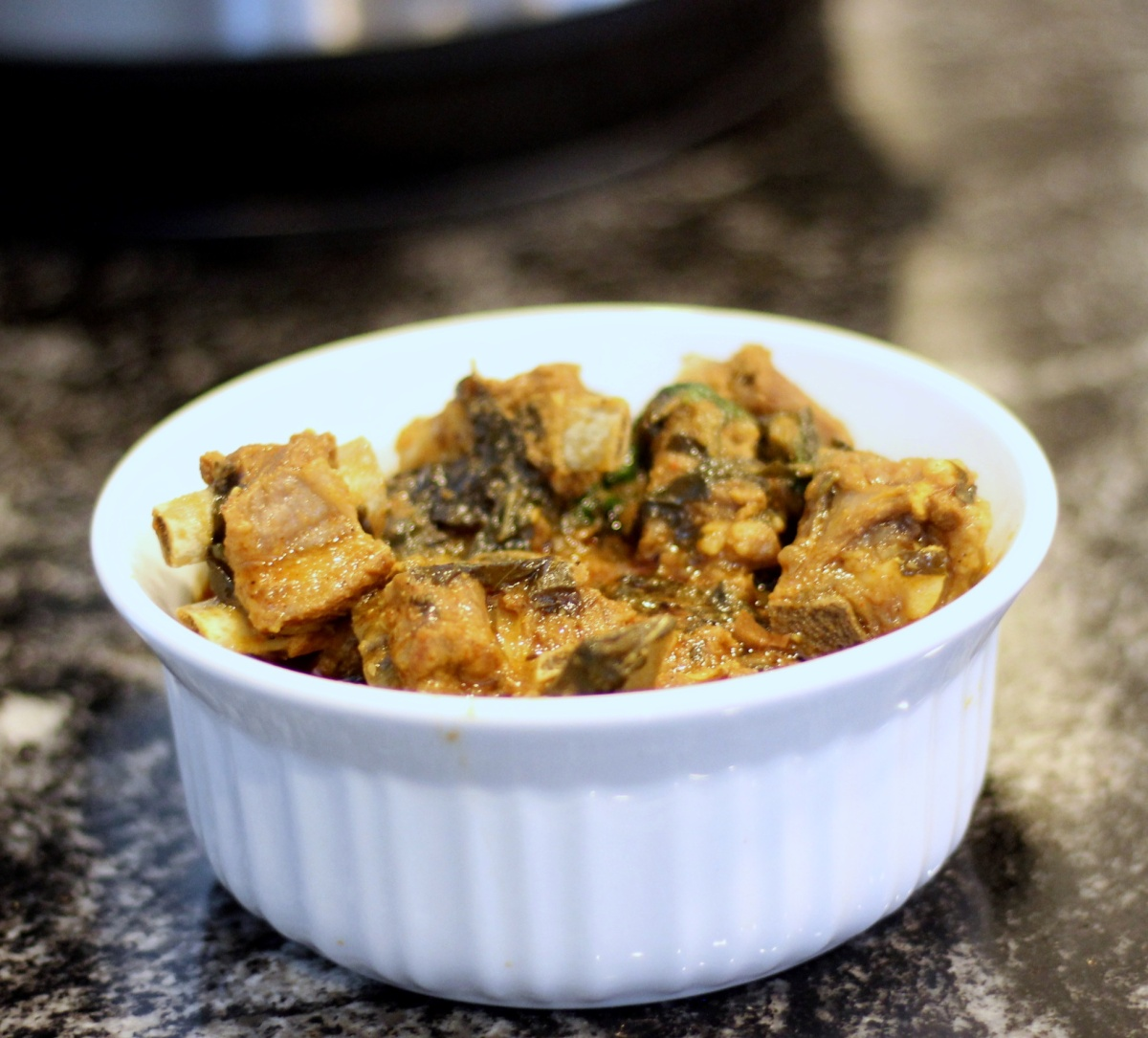 Instant Pot Indian Mutton Curry with Sorrel(Gongura) leaves